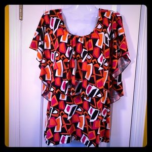 Mod Pattern New Directions Top